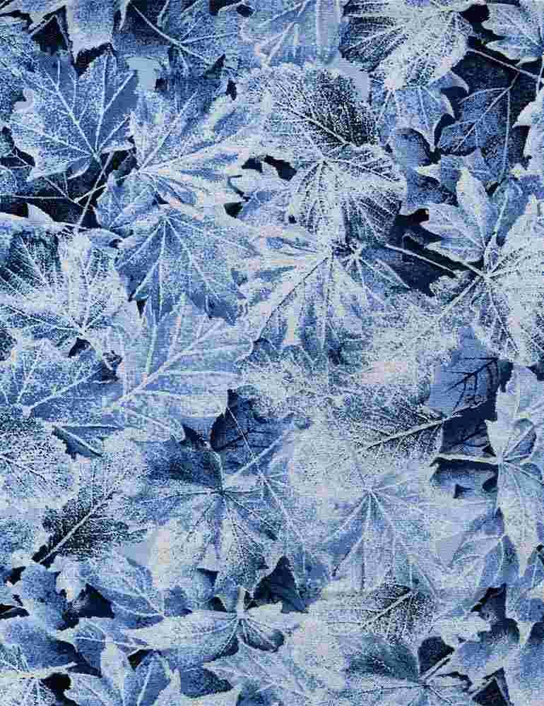 ICE-CM7831/BLUE / METALLICWINTERLARGELEAVES