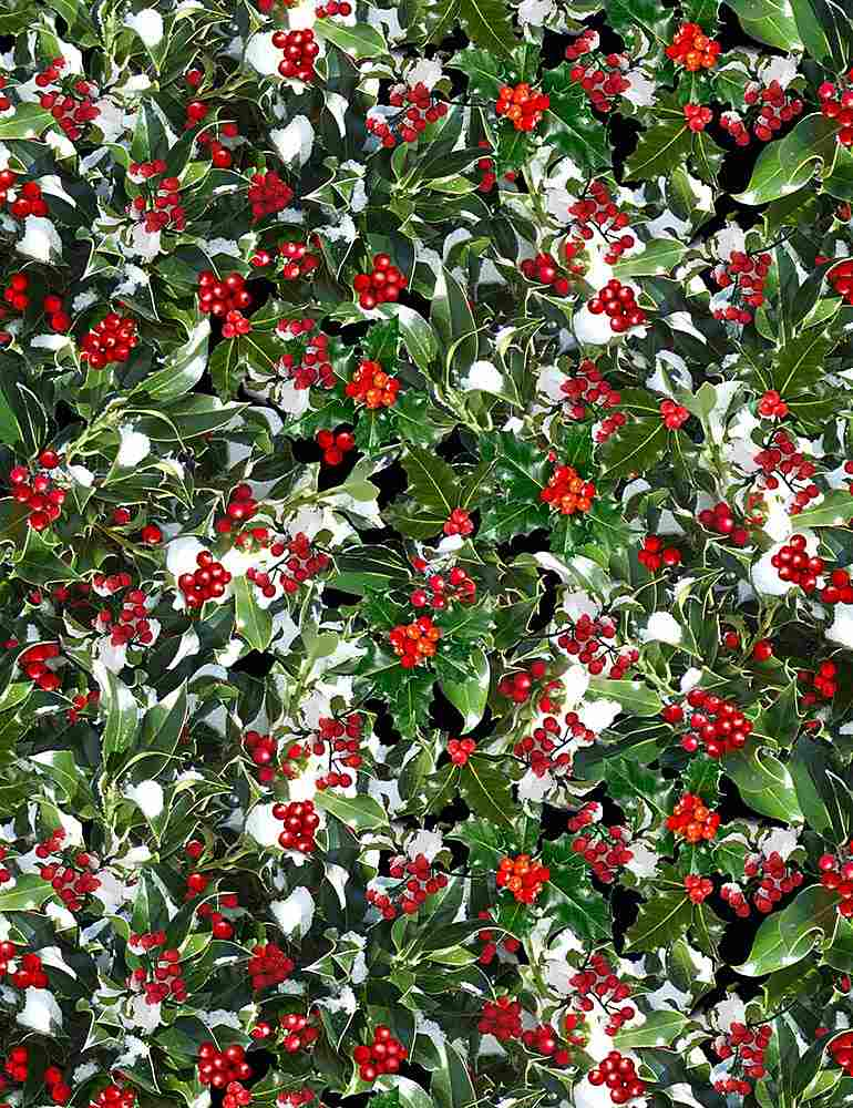 NATURE-C7871 / GREEN / HOLLY BERRIES