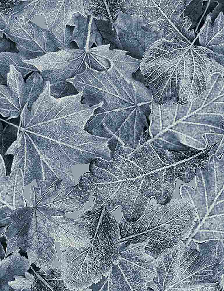 ICE-C7831 / BLUE / WINTER BIRCH LARGE LEAVES