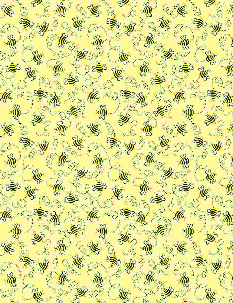 GAIL-C7854 / YELLOW / SWIRLING BEES
