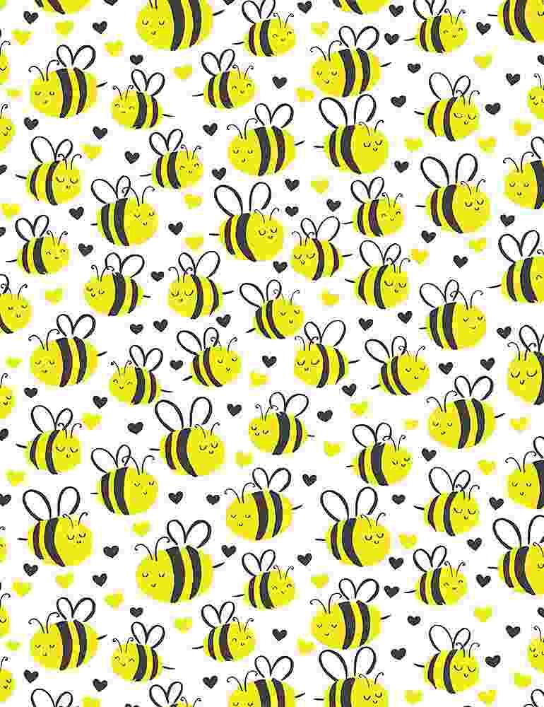 BEE-C7855/WHITE / CUTEPLUMPBEES