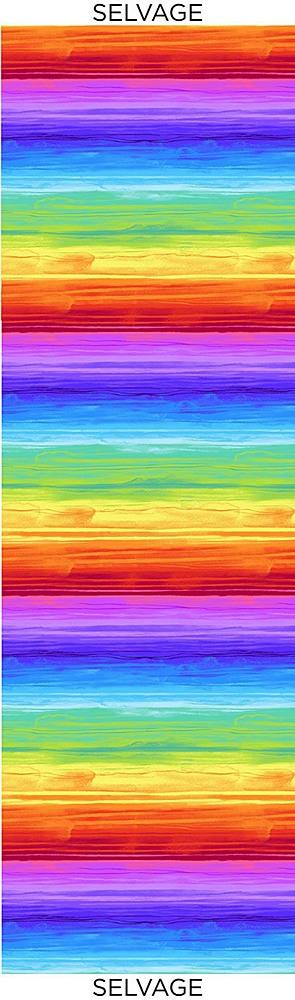 STRIPE-C7944/MULTI / RAINBOWWATERCOLORSTRIPE