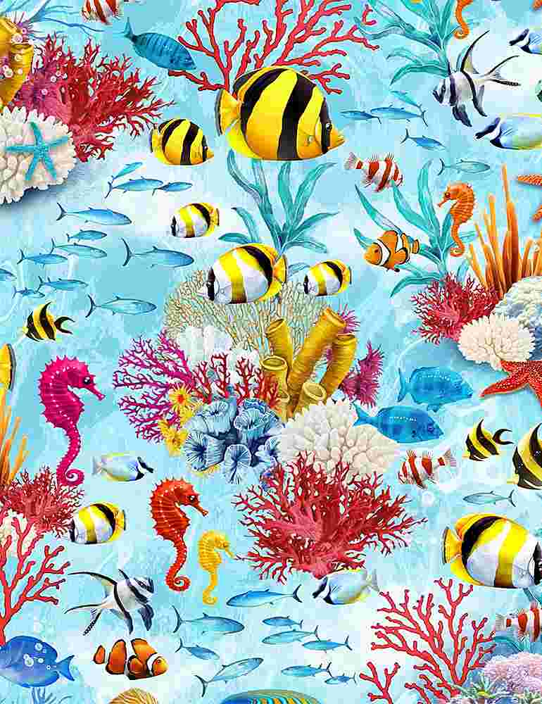 SEA-C7960 / MULTI / UNDER THE SEA CREATURES