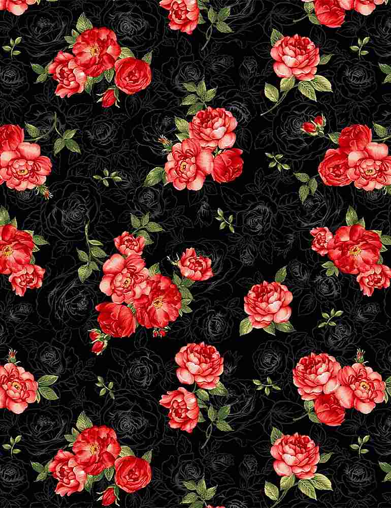FLEUR-C7974 / BLACK / SMALL RED ROSE BOUQUETS