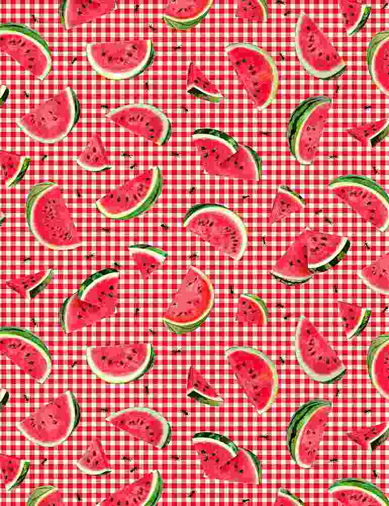 FRUIT-C7963 / PINK / ANTS & WATERMELON SLICES