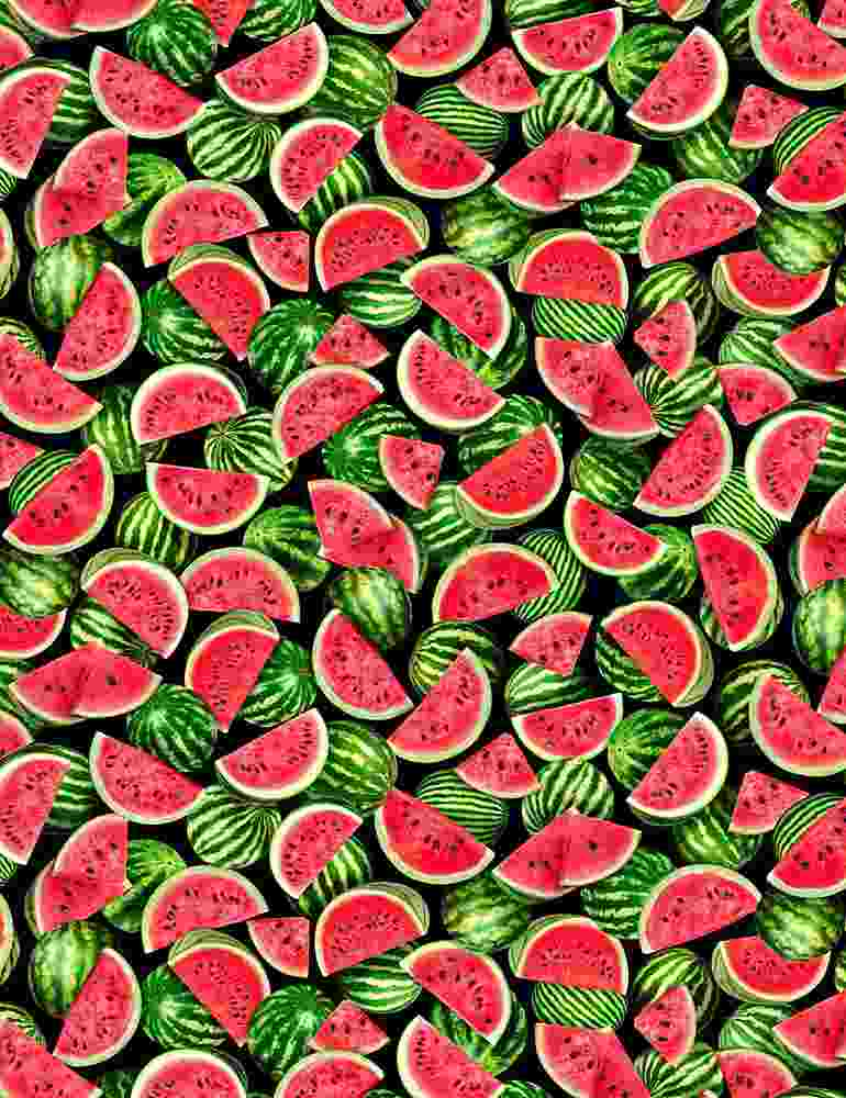 FRUIT-C7964 / BLACK / PACKED WATERMELONS