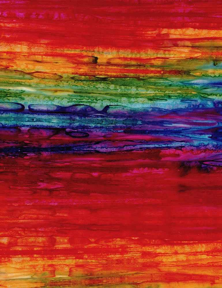 TONGA-B8007 / RAINBOW / WATERCOLOR STREAKS