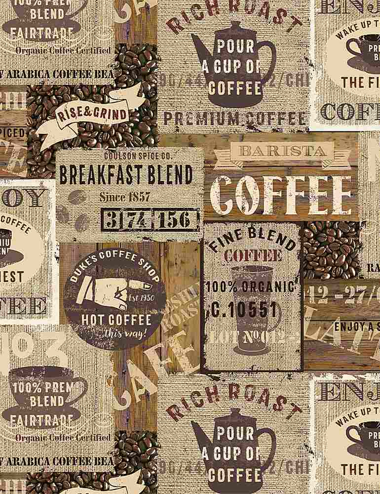 COFFEE-C7984 / BROWN / PACKED COFFEE SIGNS