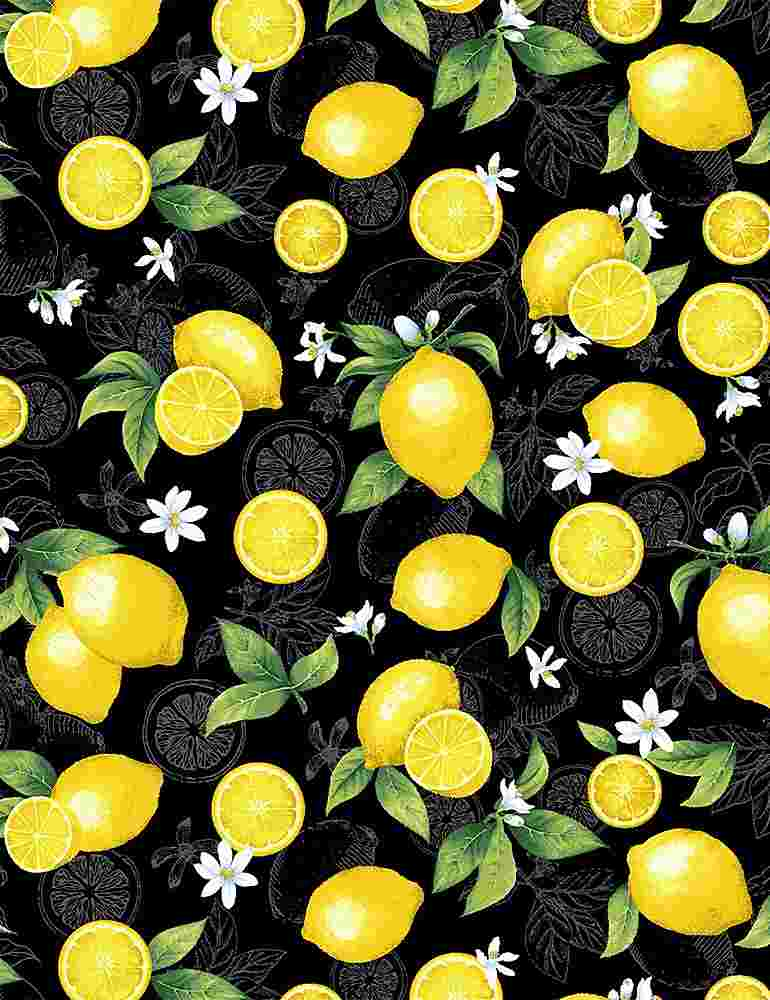 FRUIT-C8018 / BLACK / MEDIUM ETCHED LEMONS