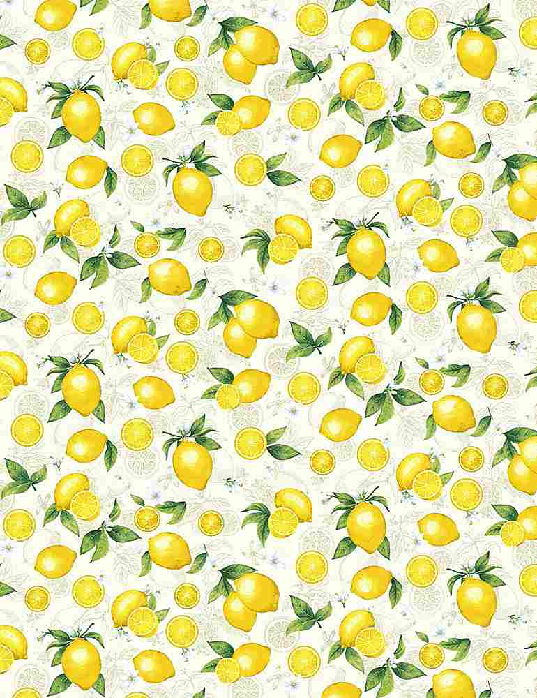 FRUIT-C8019 / CREAM / SMALL ETCHED LEMONS