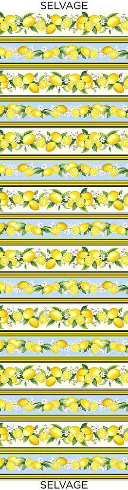 "FRUIT-C8025 / BLUE / LEMON 11"" STRIPE"