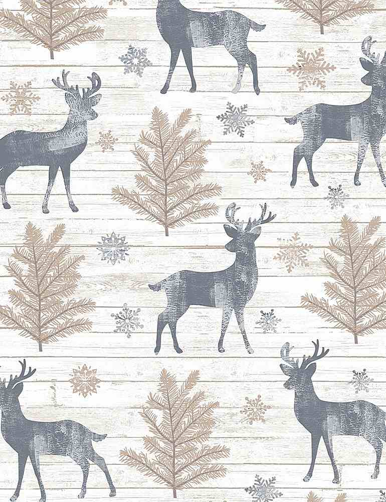 HOLIDAY-CF7474 / CREAM / RUSTIC REINDEER