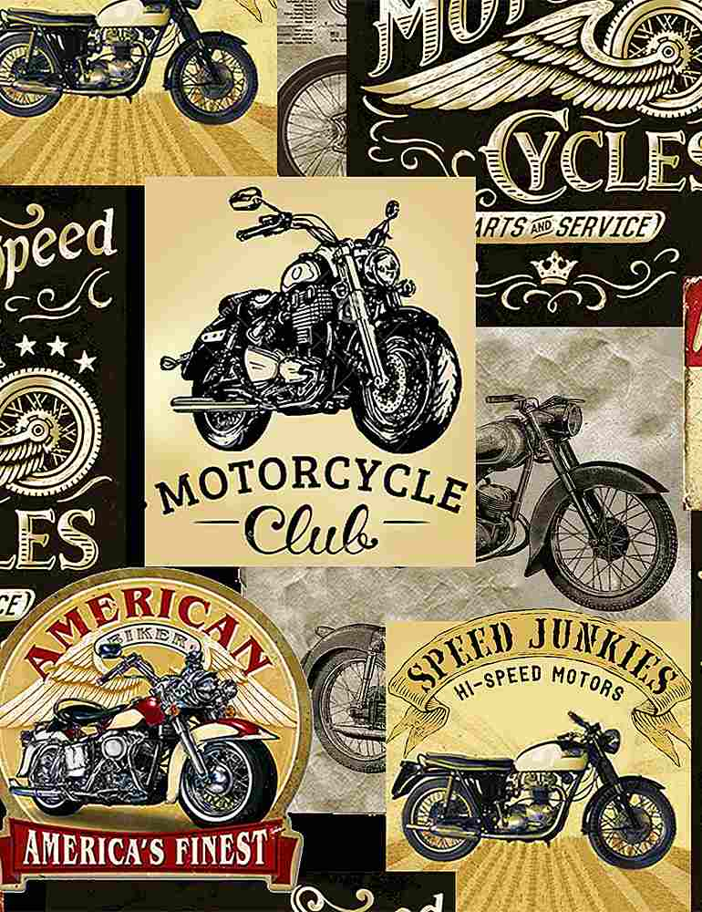 FUN-C8049 / MULTI / PACKED VINTAGE MOTORCYCLE SIGNS