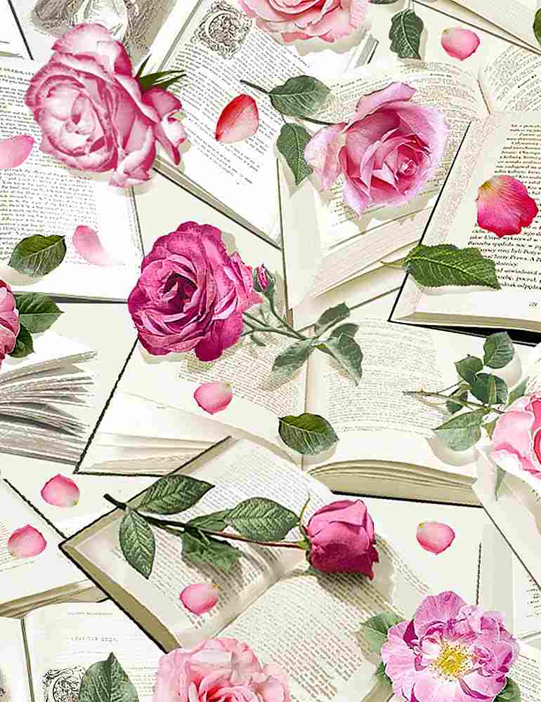 FLEUR-C8068 / MULTI / ROSES WITH BOOKS
