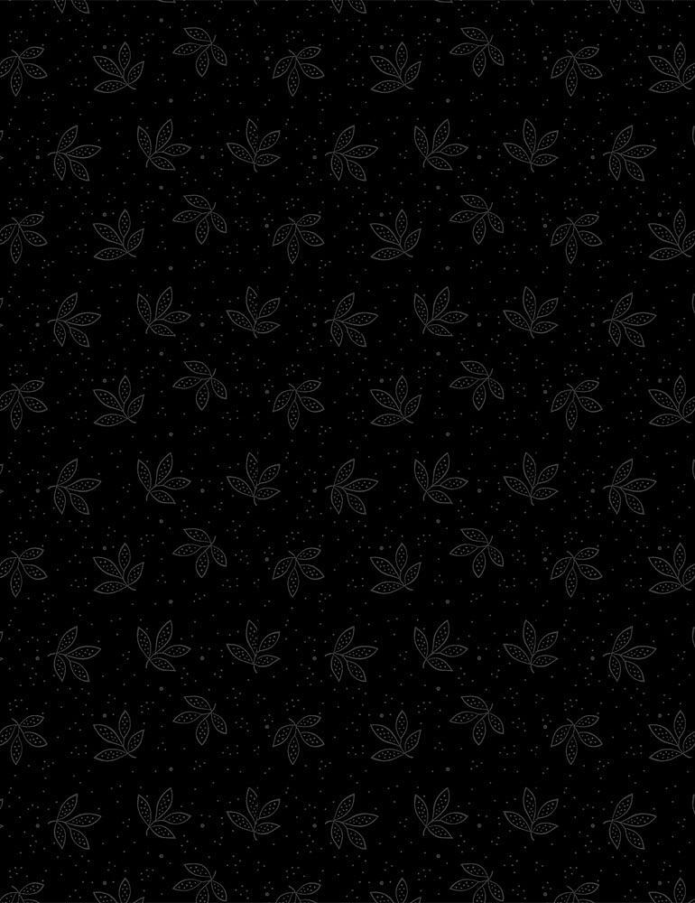 HUE-C8188/BLACK / DOODLEDLEAVES