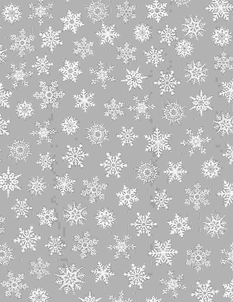 GAIL-C8211/GREY / SNOWFLAKES