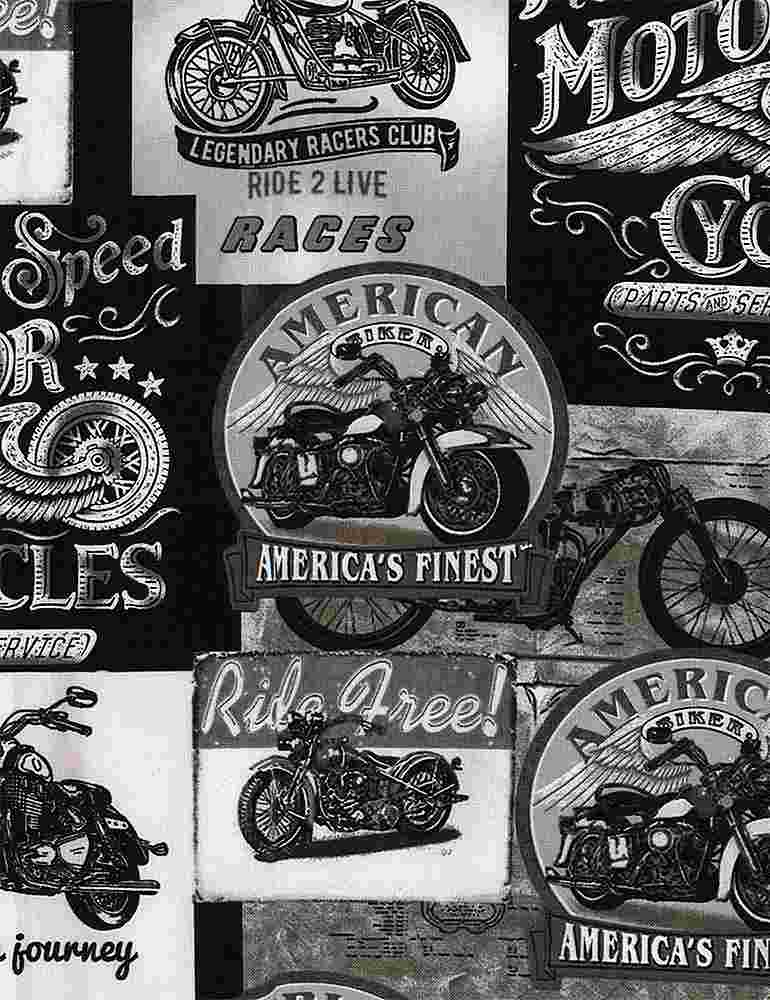 FUN-C8049 / GREY / PACKED VINTAGE MOTORCYCLE SIGNS