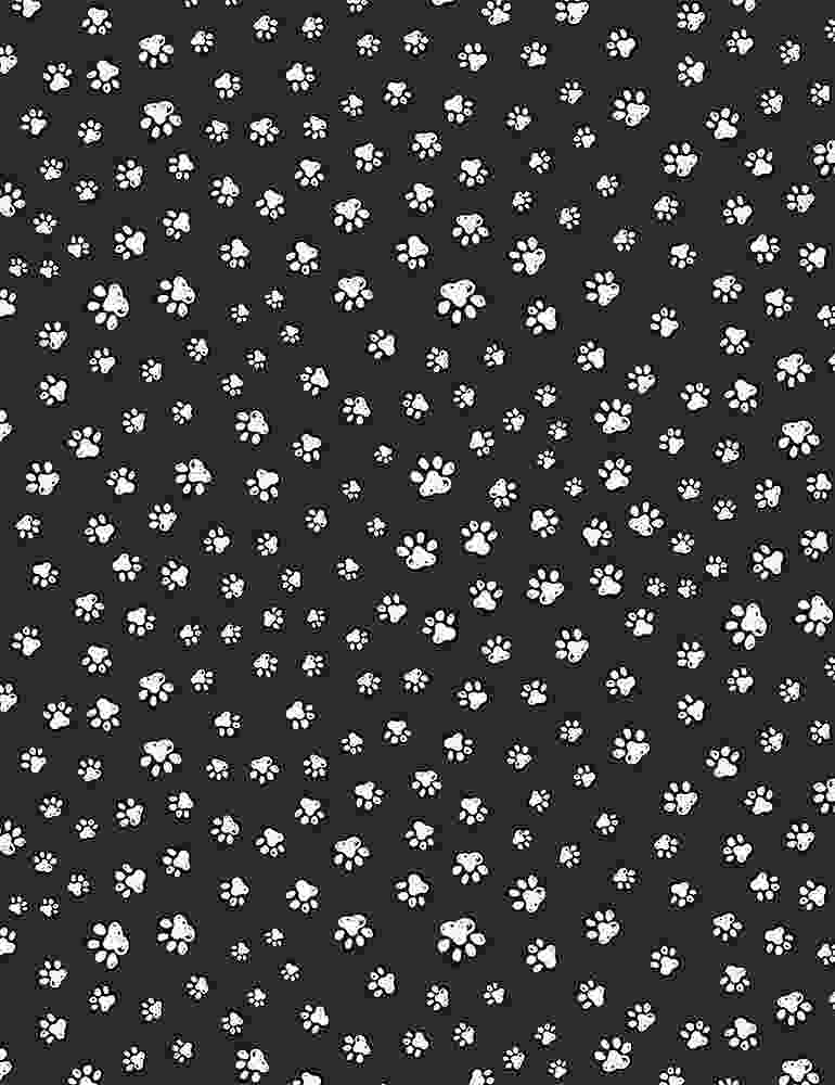PAW-C8242 / BLACK / SKETCHED PAW PRINTS