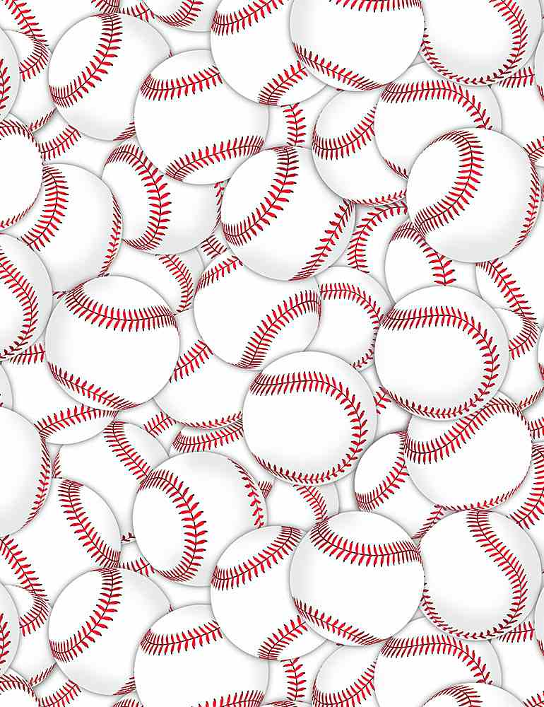 GAIL-C8315 / WHITE / PACKED BASEBALLS
