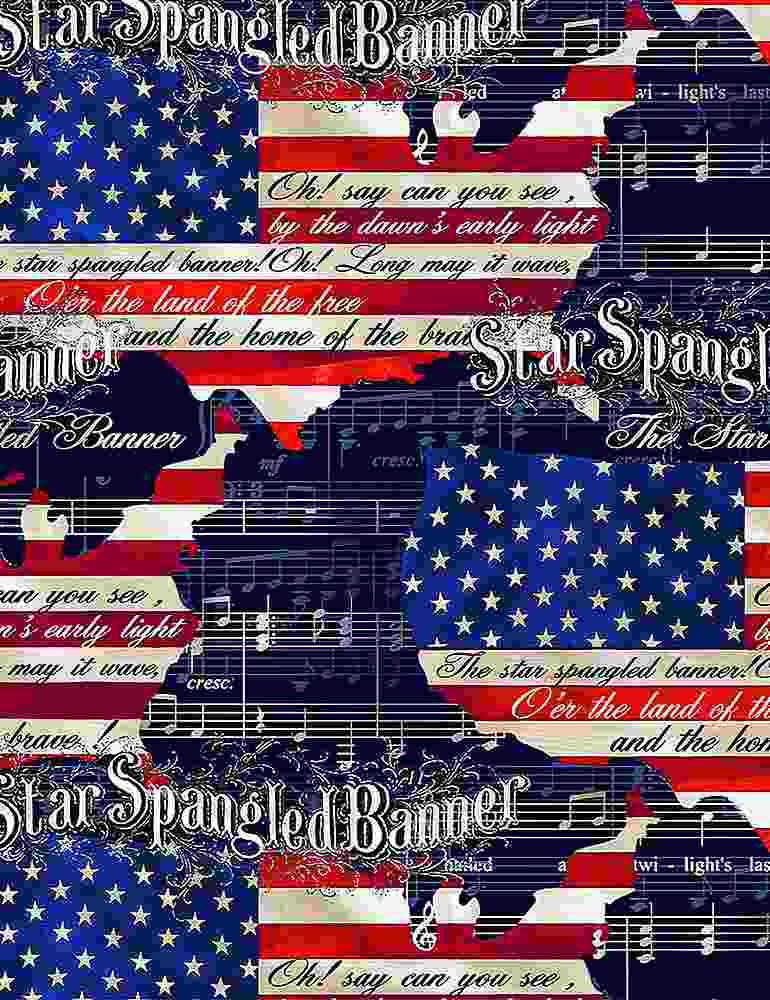 USA-C8319 / MULTI / STAR SPANGLED BANNER USA