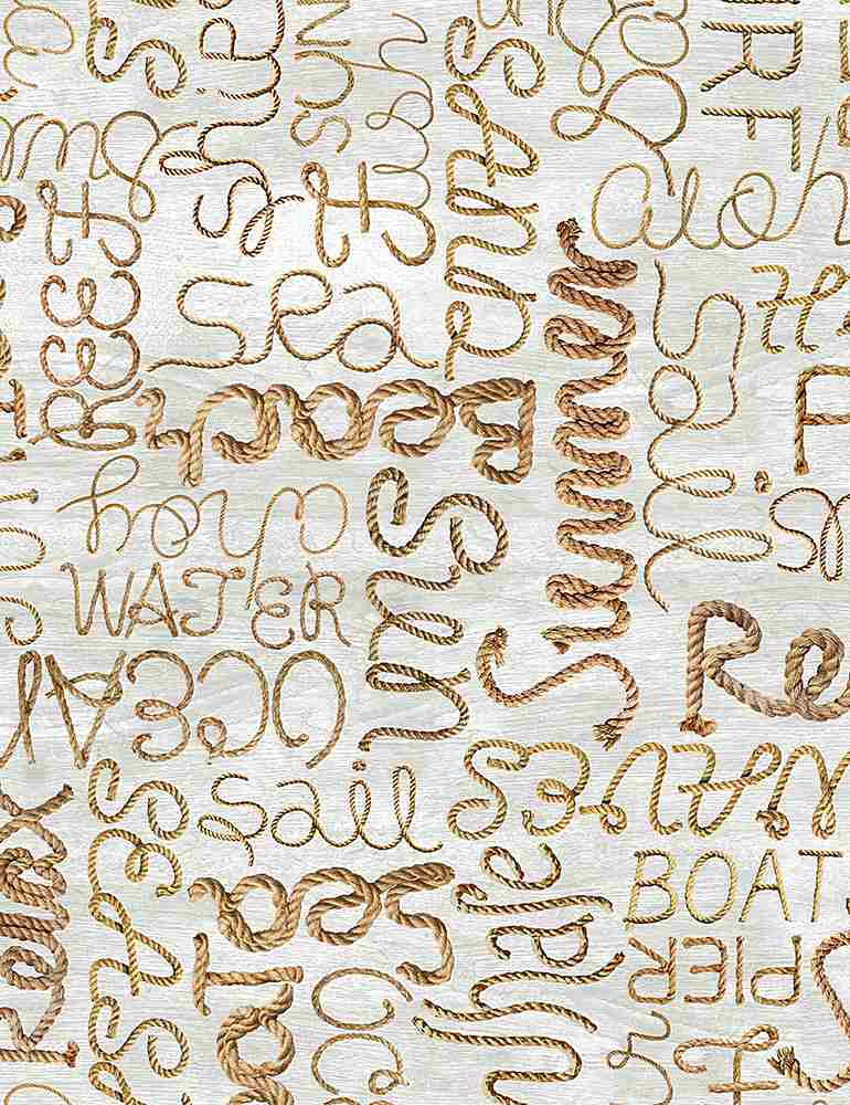 BEACH-C8289 / NATURAL / ROPE WORDS