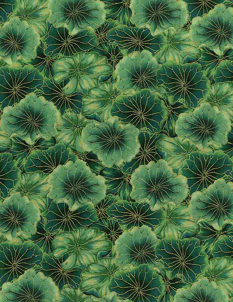 FLEUR-CM8304 / GREEN / PACKED WATER LILY PADS