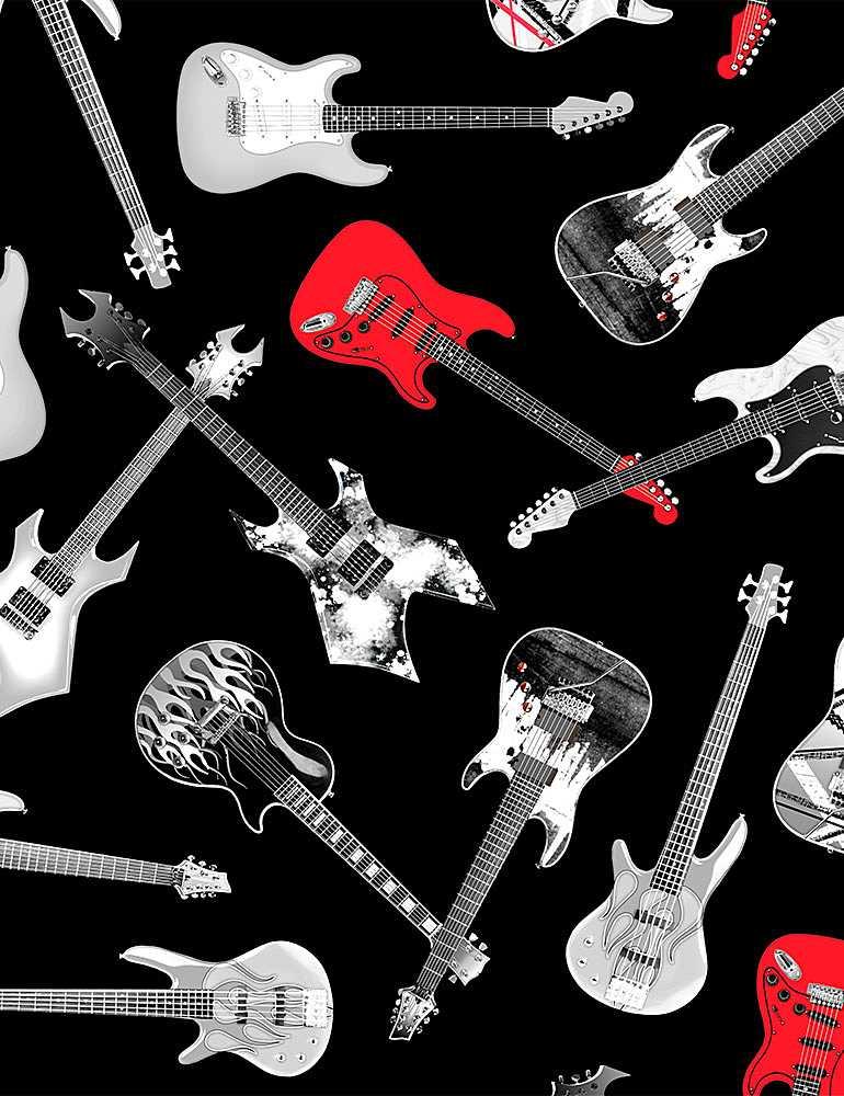 MUSIC-C8358/BLACK / TOSSEDGUITARS