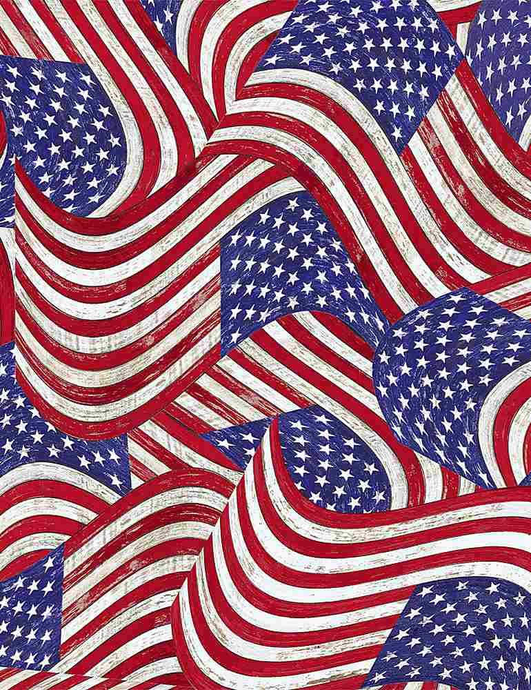 USA-C8365 / USA / PACKED FLAGS ON WOOD