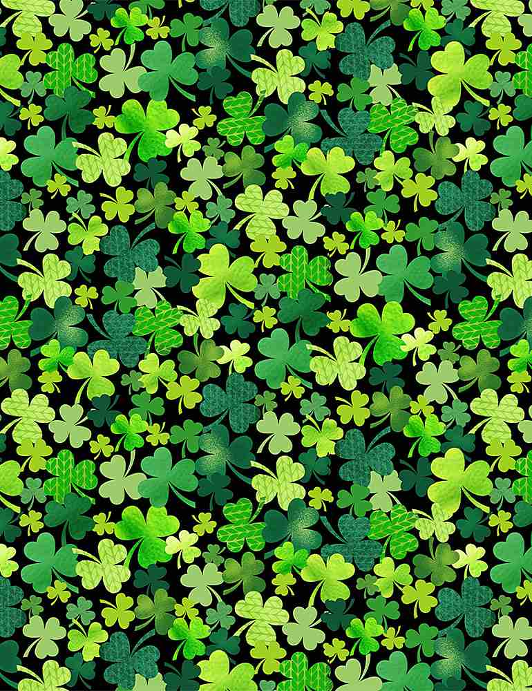 GAIL-C8333 / BLACK / PACKED CLOVERS