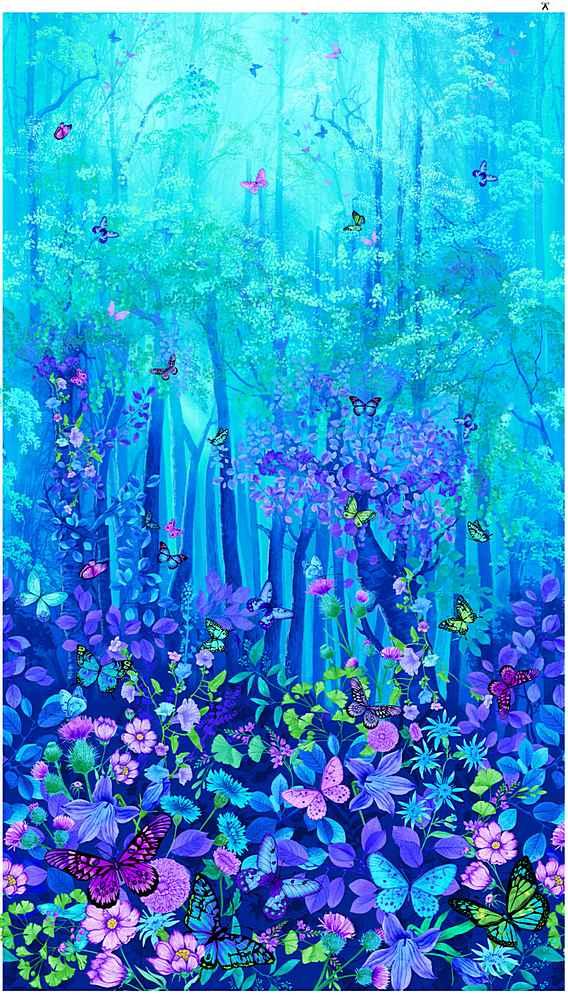 "PANEL-CD8370/BLUE / 24""FORESTMAGICPANEL"