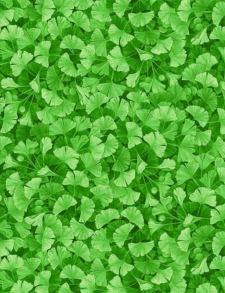 FLEUR-CD8374 / GREEN / GREEN FOREST MAGIC LEAVES
