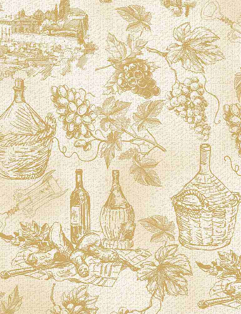 WINE-C8397 / NATURAL / WINE GRAPE ETCHINGS