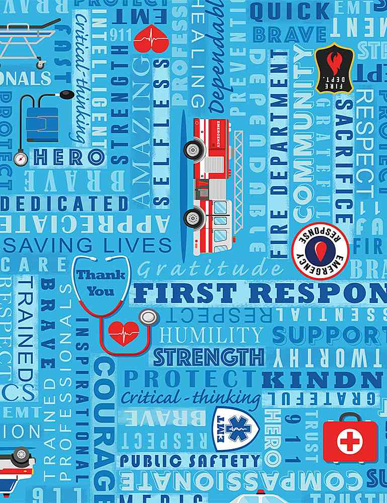 THANKS-C8420 / BLUE / FIRST RESPONDERS