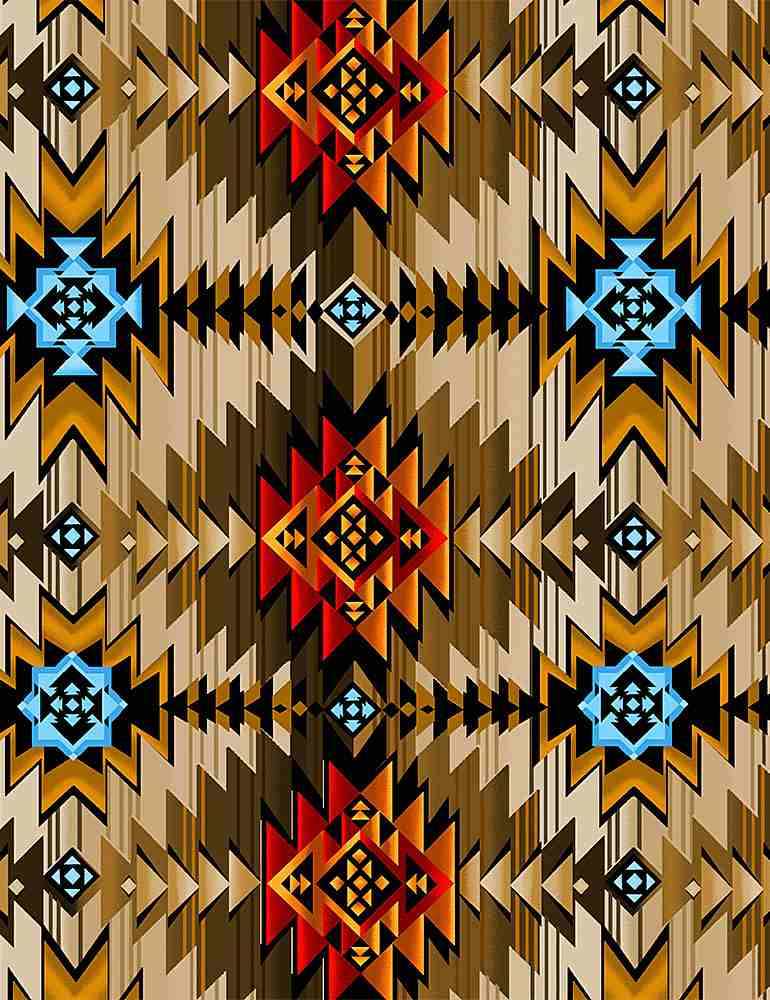 WEST-C8428 / MULTI / SOUTHWEST RUG PRINT