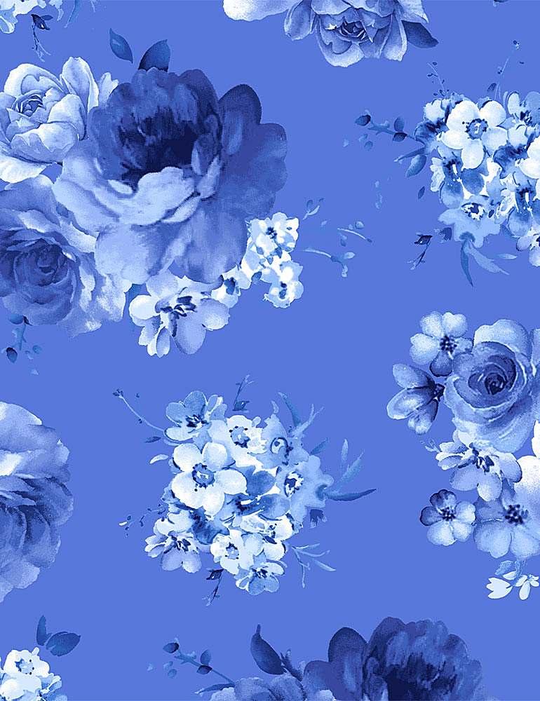 FLEUR-C8448/BLUE / MEDIUMBLUEFLOWERS