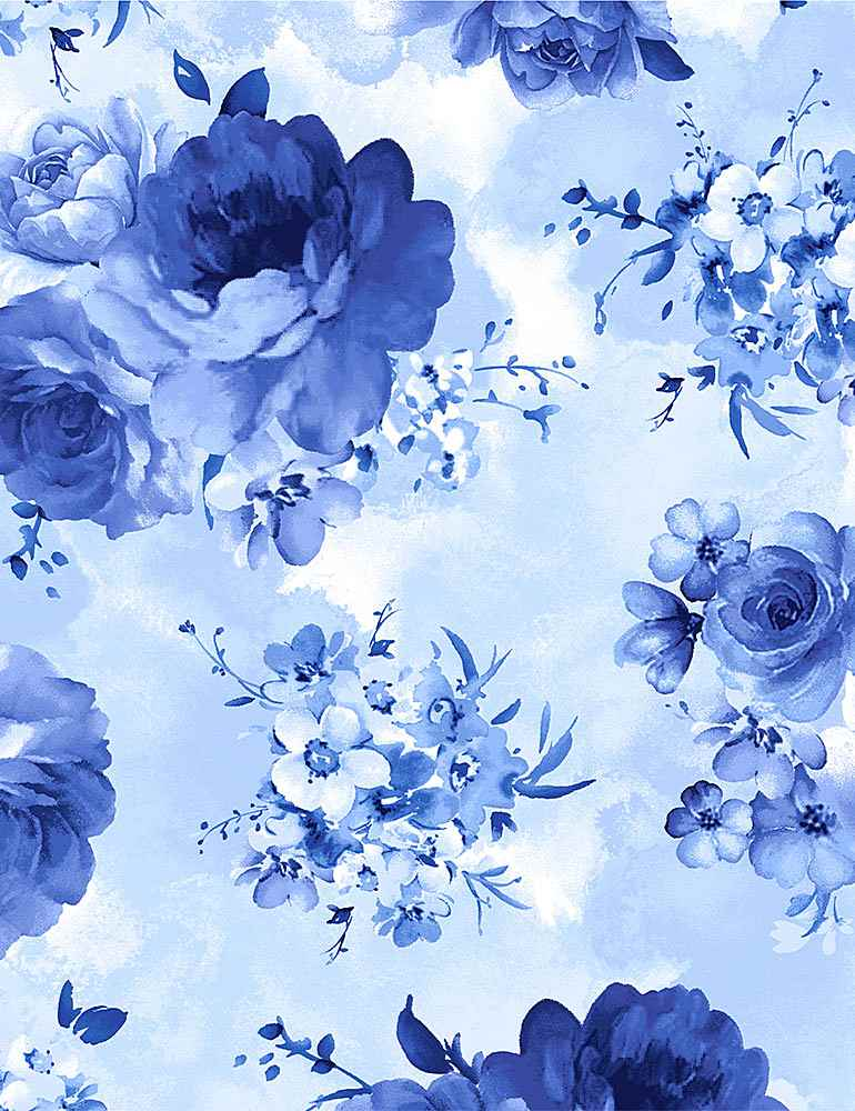 FLEUR-C8448 / SKY / MEDIUM BLUE FLOWERS