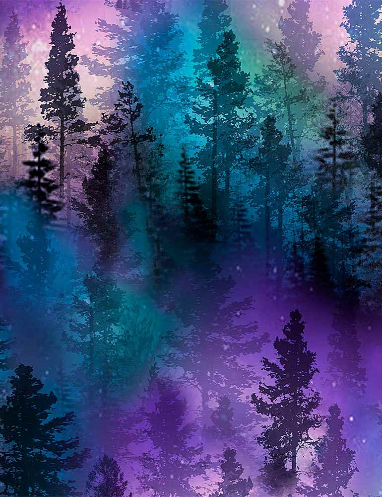NATURE-C8457 / PURPLE / AURORA TREES