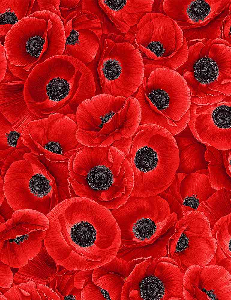 FLEUR-C8474 / RED / PACKED RED POPPIES
