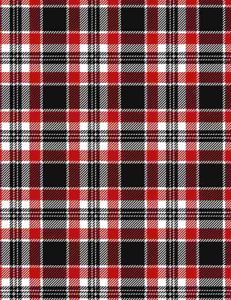 GAIL-C8469 / RED / SILENT NIGHT HOLIDAY PLAID