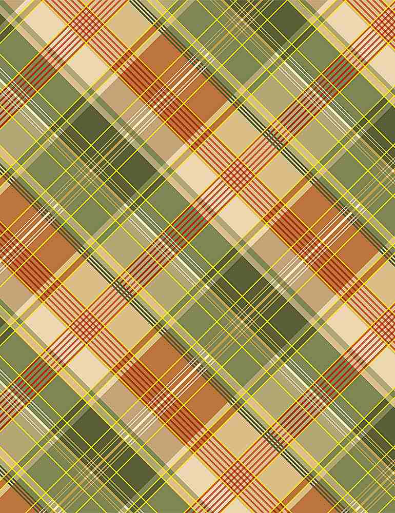 PLAID-CM8528 / CREAM / WHITE METALLIC HARVEST PLAID