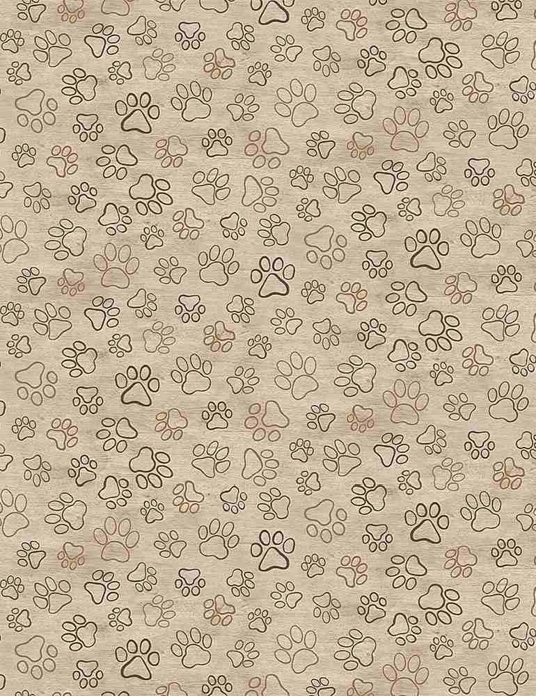 DOG-C8556/NATURAL / BURNEDDOGPAWPRINTS