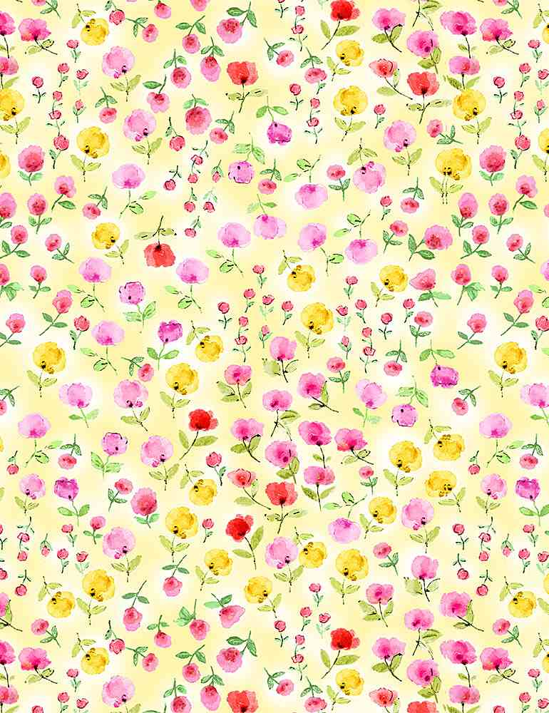 FLEUR-CD8617 / YELLOW / WATER COLOR MINI FLORALS