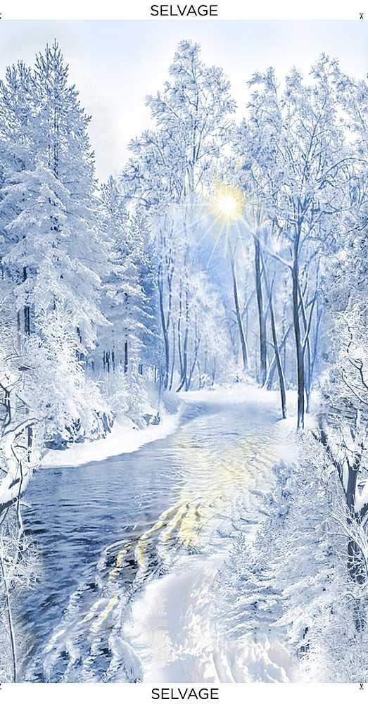 PANEL-C8609/BLUE / SNOWYFORESTPANEL