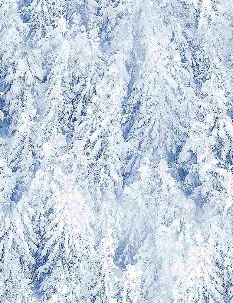 WINTER-C8610/BLUE / SNOWYPINETREES