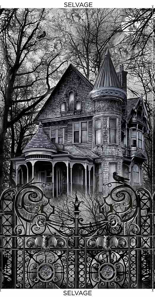 PANEL-C8639 / BLACK / WICKED HAUNTED HOUSE PANEL