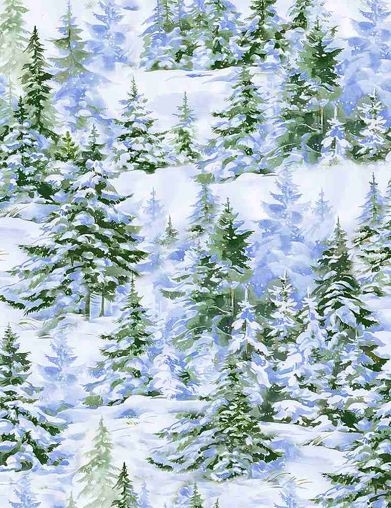 WINTER-C8667 / MULTI / PINE TREES IN THE SNOW