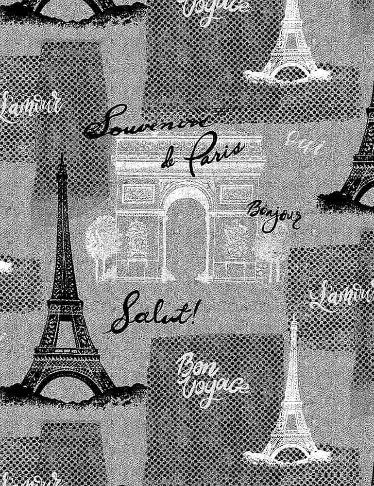 PARIS-C8686 / GREY / TEXTURED PARIS MOTIFS