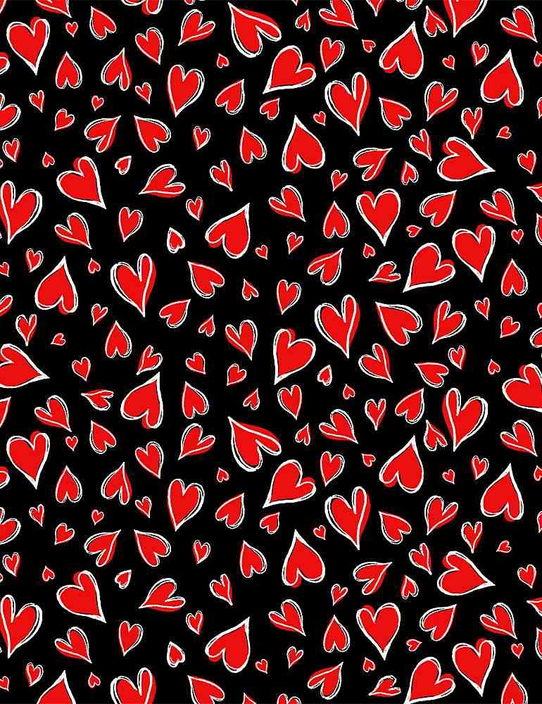 HEARTS-C8696/BLACK / PARISIANHEARTS