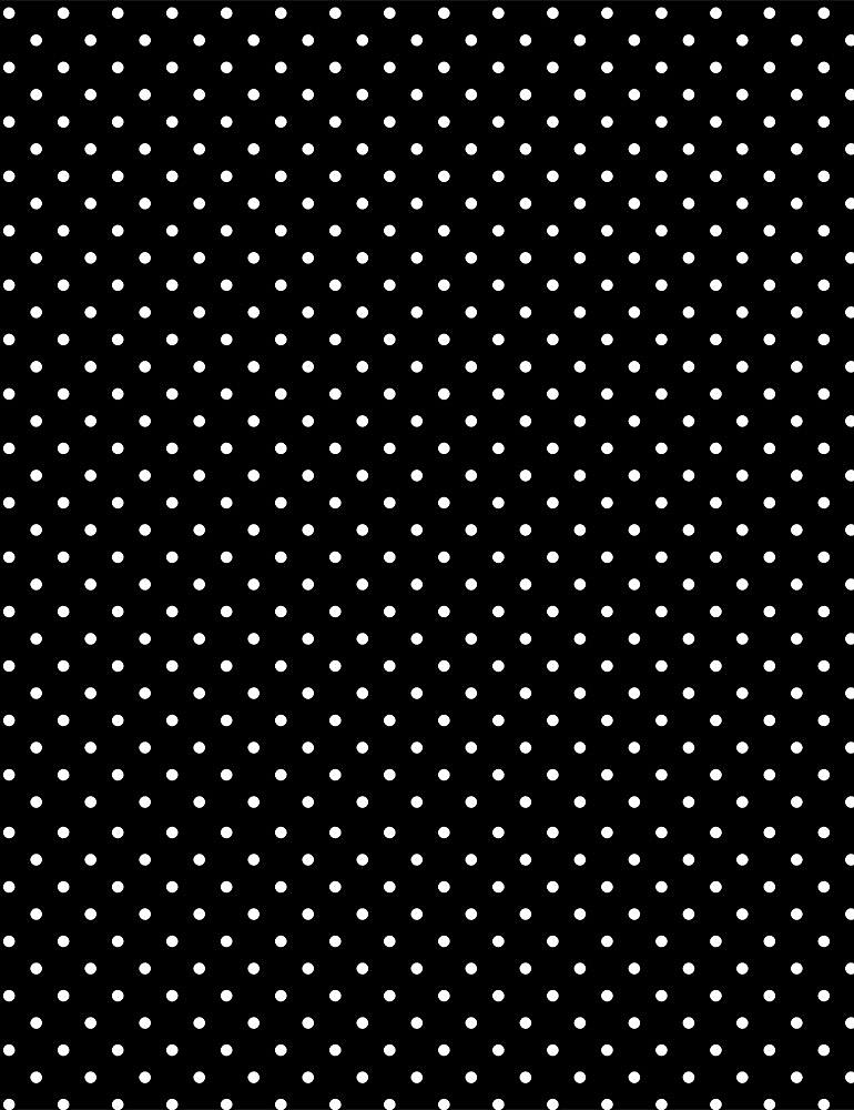 DOT-C8698 / BLACK / TINY DOTS