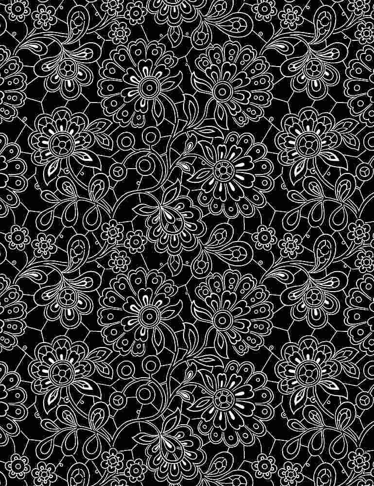 INK-C8734/BLACK / PAISLEYDOODLES